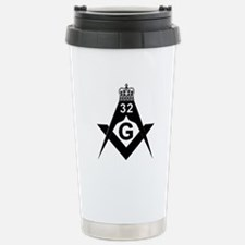 32nd degree in Black and White Travel Mug