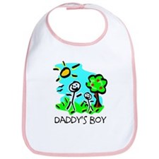Daddy's Boy Stick Figure Bib