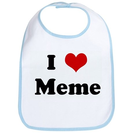 I Love Meme Bib