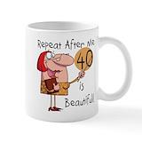 40 birthday Small Mugs (11 oz)