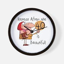 40 is Beautiful Wall Clock