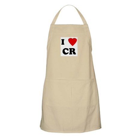 I Love CR BBQ Apron