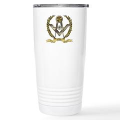 Acacia Leafs Masonic Stainless Steel Travel Mug