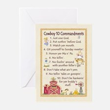 10 Commandments - Farm Greeting Cards (Package of