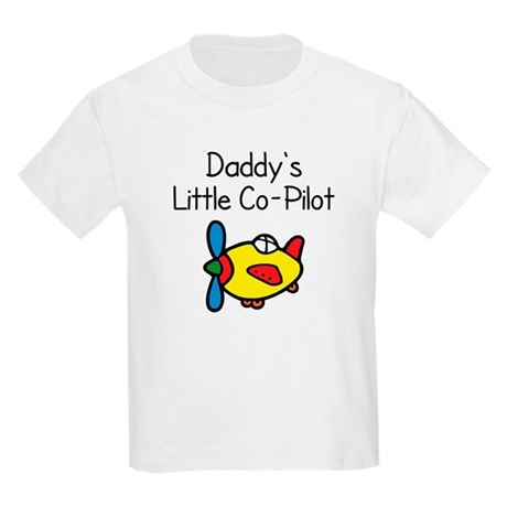Daddy's Little Co-pilot Kids Light T-Shirt