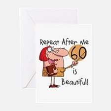 60 is Beautiful Greeting Cards (Pk of 10)