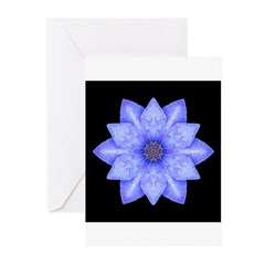 Blue Clematis II Greeting Cards (Pk of 10)