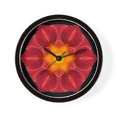 Wet Lily I Wall Clock