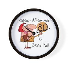 80 is Beautiful Wall Clock