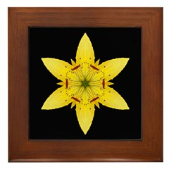 Yellow Lily I Framed Tile