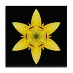 Yellow Lily I Tile Coaster
