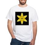 Yellow Lily I White T-Shirt