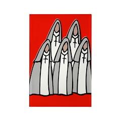 Nuns Got Faith Rectangle Magnet