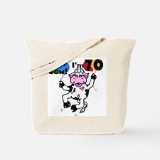 Holy Cow I'm 70 Tote Bag