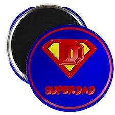 Super Dad lettered Magnet