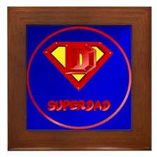 Super Dad lettered Framed Tile