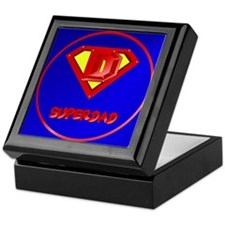 Super Dad lettered Keepsake Box