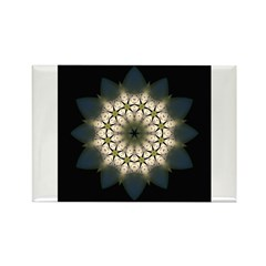 White Lily III Rectangle Magnet