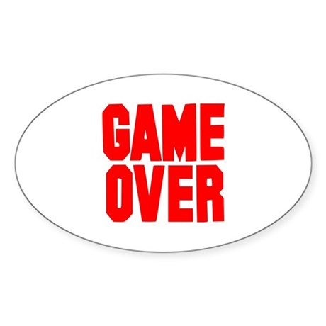 Game over Sticker (Oval 10 pk)