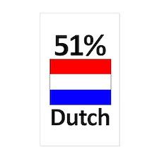 51% Dutch Rectangle Decal