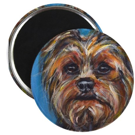 """Portrait of a Yorkie 2.25"""" Magnet (10 pack)"""