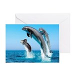 Doxie & Dolphins Greeting Card