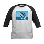 Doxie & Dolphins Kids Baseball Jersey
