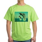 Doxie & Dolphins Green T-Shirt