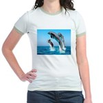 Doxie & Dolphins Jr. Ringer T-Shirt