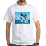 Doxie & Dolphins White T-Shirt