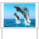 Doxie & Dolphins Yard Sign
