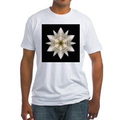 White Lily I Fitted T-Shirt