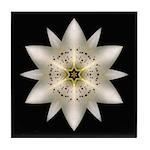 White Lily I Tile Coaster