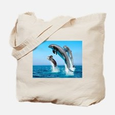 Doxie & Dolphins Tote Bag