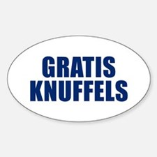 Gratis Knuffels Oval Decal