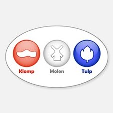 3 Dutch Icons Oval Decal