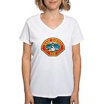 San Diego Fire Department Women's V-Neck T-Shirt
