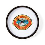 San Diego Fire Department Wall Clock
