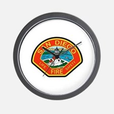 San Diego Fire Department Wall Clock
