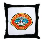 San Diego Fire Department Throw Pillow