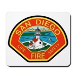 San Diego Fire Department Mousepad