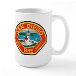 San Diego Fire Department Large Mug