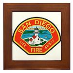 San Diego Fire Department Framed Tile