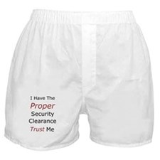 Security Clearance Boxer Shorts