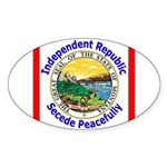 Montana-5 Oval Sticker (10 pk)