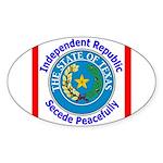 Texas-5 Oval Sticker (50 pk)