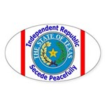 Texas-5 Oval Sticker