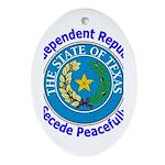Texas-5 Oval Ornament