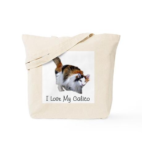 I Love My Calico Tote Bag