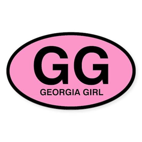 Georgia Girl III Oval Sticker